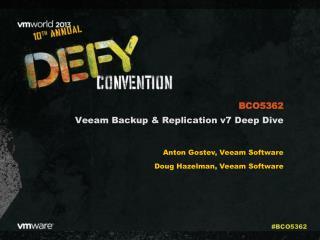 Veeam Backup & Replication v7 Deep Dive