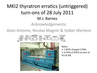 MKI2 thyratron  erratics  ( untriggered ) turn- ons  of 28 July 2011 M.J.  Barnes