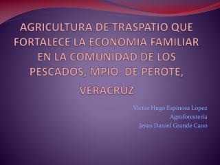 Victor H ugo  E spinosa  Lopez Agroforesteria Jesus  Daniel Grande Cano
