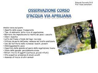 Edoardo Ferrante IV G Prof. Paola Centofanti