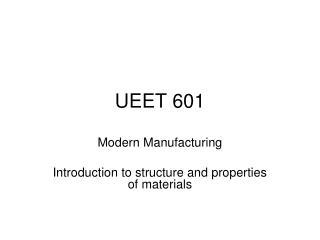 UEET 601