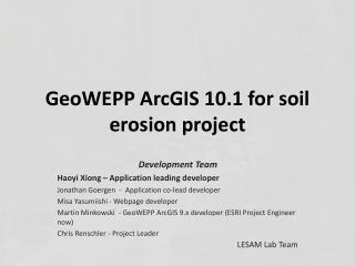 GeoWEPP  ArcGIS 10.1 for soil erosion project