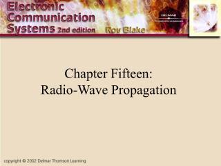 Chapter Fifteen: Radio-Wave Propagation