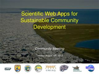 Scientific Web Apps for Sustainable Community Development