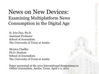 News on New Devices:  Examining Multiplatform News Consumption in the Digital Age