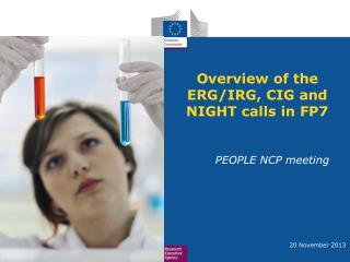 Overview of the ERG/IRG, CIG and NIGHT calls in FP7