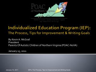 Individualized Education Program IEP: The Process, Tips for Improvement  Writing Goals