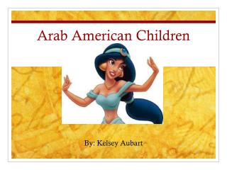 Arab American Children