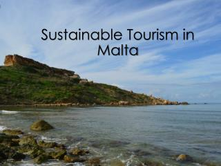 Sustainable Tourism in Malta