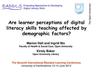 Are learner perceptions of digital literacy skills teaching affected by demographic factors?