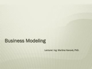 Business Modeling