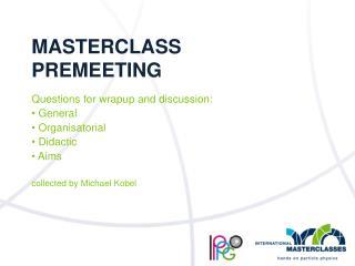 Masterclass Premeeting