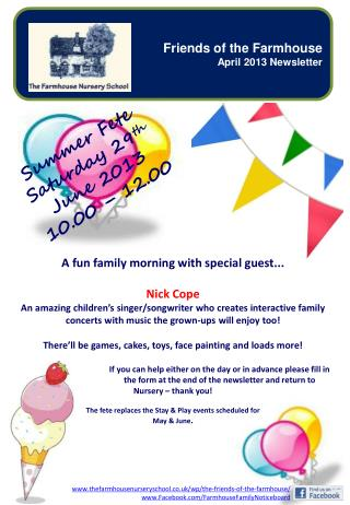 A fun family morning with special guest... Nick Cope