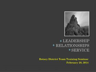 Leadership    relationships service