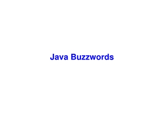 Dynamic Programming In the Java Platform
