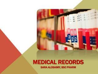 Medical Records Sara  Alosaimy ,  bsc  phar m