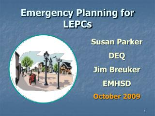 Emergency Planning for LEPCs