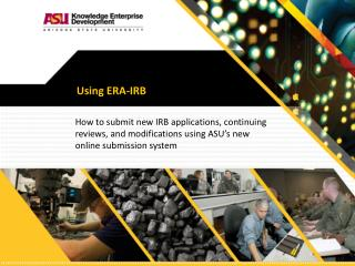 Using ERA-IRB