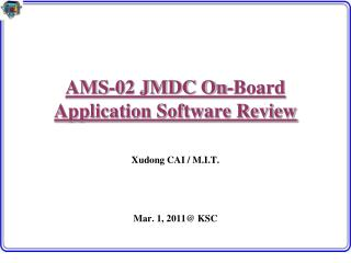 AMS-02 JMDC On-Board Application Software Review