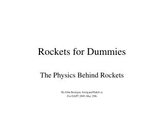 Rockets for Dummies