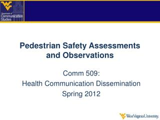 Pedestrian Safety Assessments and Observations