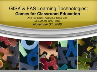 GISK & FAS Learning Technologies: