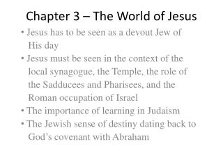 Chapter 3 – The World of Jesus