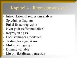 Kapittel 4 - Regresjonsanslyse