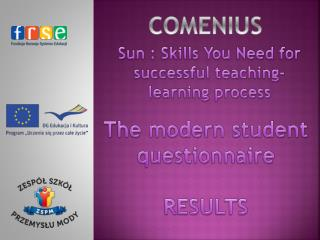 Sun :  Skills You Need  for  successful teaching-learning process