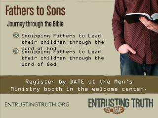 Equipping Fathers to Lead their children through the Word of God