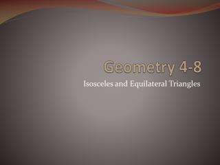 Geometry 4-8
