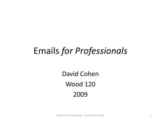 Emails  for Professionals