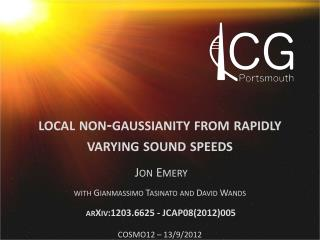 local non-gaussianity from rapidly  varying sound speeds