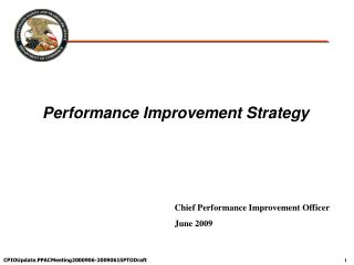 Performance Improvement Strategy