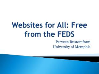 Websites for  All: Free  from the FEDS