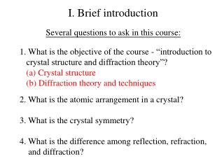 I. Brief  introduction