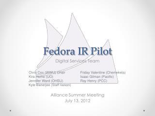Fedora IR  Pilot