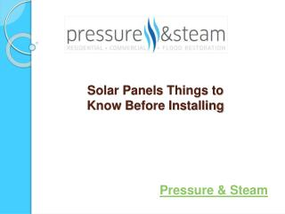 Solar energy panels are an excellent option to generate clea