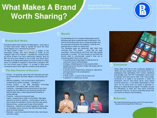 What Makes A Brand Worth Sharing?