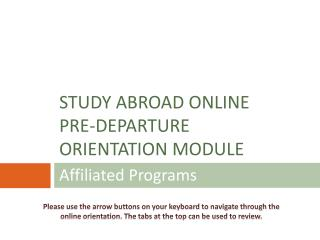 Affiliated Programs