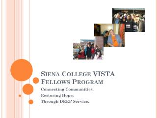 Siena College VISTA Fellows Program
