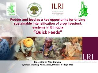 Presented by Alan  Duncan Synthesis   meeting; Addis  Ababa, Ethiopia,  3-4 Sept  2012