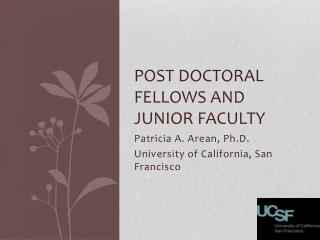 Post Doctoral Fellows and Junior Faculty