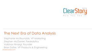 The Next Era of Data Analysis