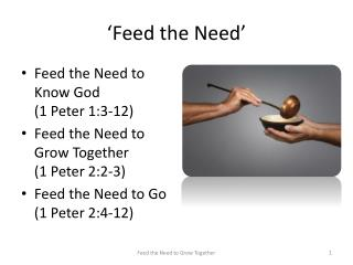 'Feed the Need'