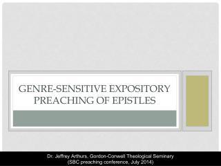 Genre-sensitive expository preaching of epistles