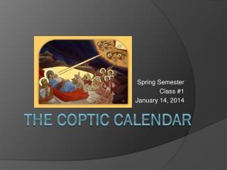 The Coptic Calendar