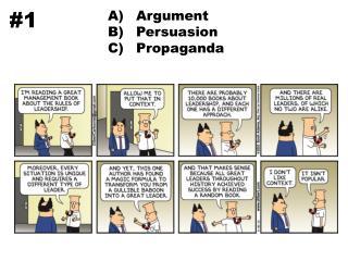 Argument Persuasion Propaganda