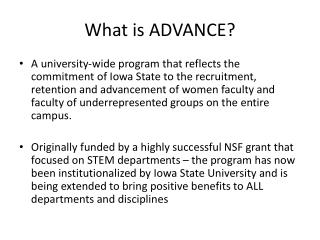What is ADVANCE?