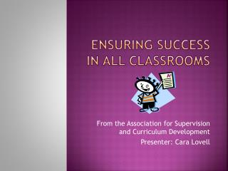 Ensuring Success in All classrooms